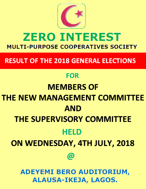 Minutes of Zero Interest Cooperative Ordinary General Meeting